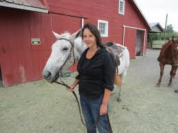 Kishkan, Theresa with horse
