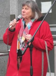 Wolfwood, Theresa at Gaza demo Copy