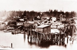 Nanaimo in 1867, previously Colville town until 1860