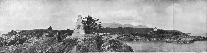 Monument at Friendly Cove, 1924. Photo by W. Lord Jr.