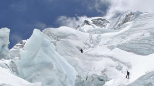 Dianne Whelan on the Khumbu glacier
