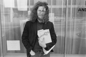Ed Varney, as a young Intermedia poet.