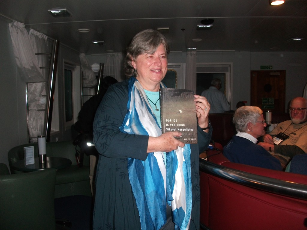 Wright, Shelley at book launch Lancaster Sound