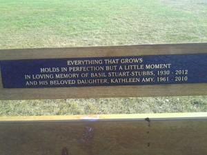 Stuart-Stubbs, Basil memorial bench