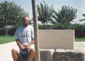 MANOLIS tshirt at Kazantzakis tomb