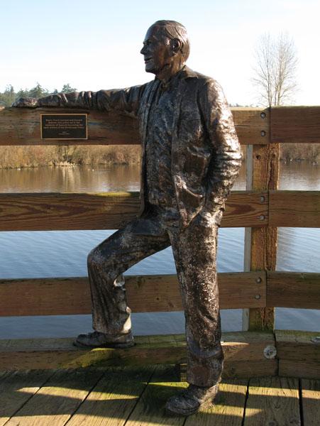 Chambers, Nathalie Roy Hawes Sculpture Blenkinsop Trestle Bridge (Saanich).