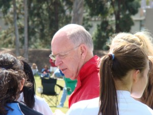Ricou, Laurie, coach of girls