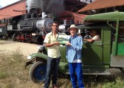 Hungrywolf, Adolph with train museum mgr