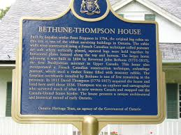 Thompson, David Bethune Thompson House in Ontario