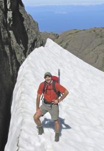 Kaye, Rob on glacier vert