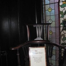 St. James, Jewelle Branwell's chair in pub
