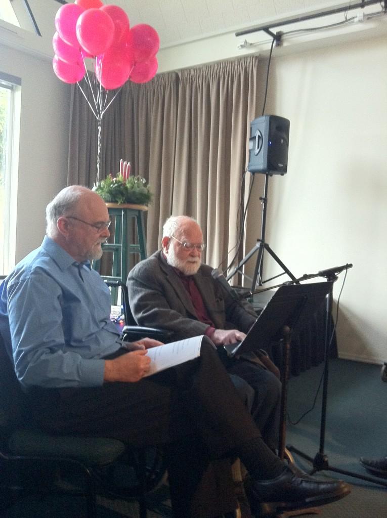 White, Frank with Howard White reading