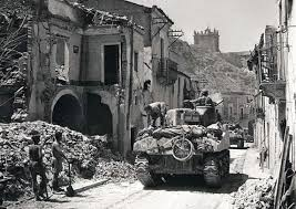Zuehlke, Mark Canadian tank rumbles through Regalbuto, Sicily, in the summer of 1943.