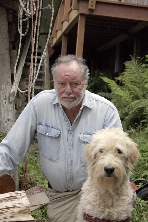 Druehl, Louis at woodpile Toby Reeve photo