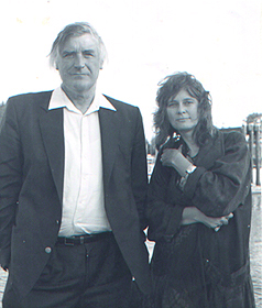 Musgrave, Susan 1 Ted Hughes and Susan Musgrave 1988 copy-photo credit David Anderson