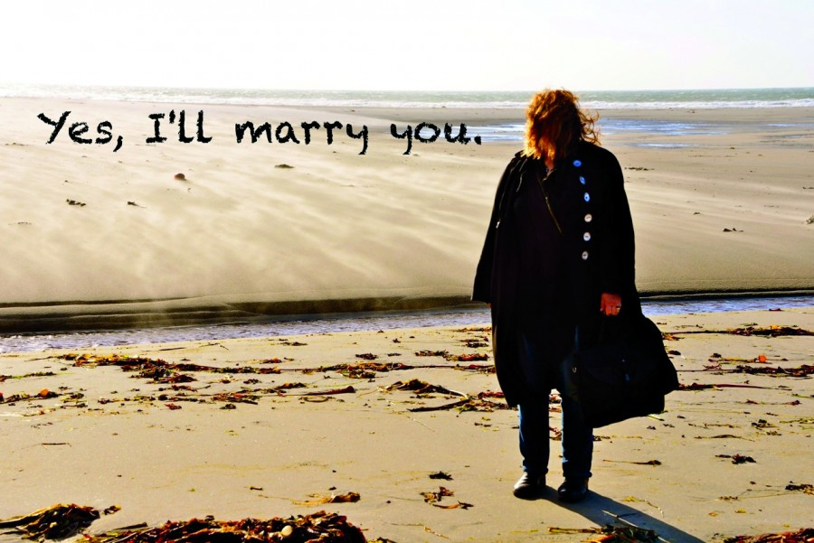 Musgrave, Susan 5 beach Yes I will Marry You-photo credit by Guy Kimola