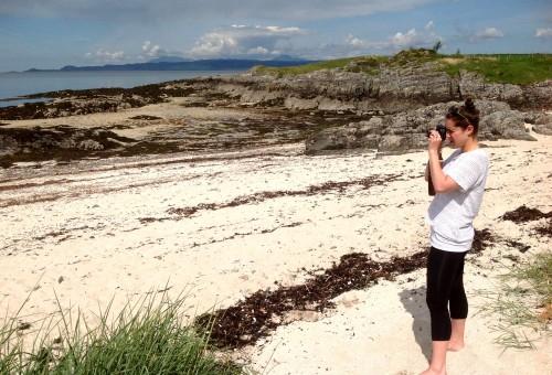 Xan Shian (Bowerng's daughter) Michael Elcock photo at Morar, Scotland