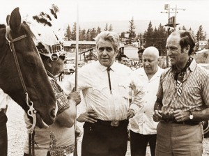 Paul St. Pierre (second from left) at the Williams Lake Stampede, when he was a Liberal MP, with Prime Minister Pierre Trudeau and MP Ron Basford, Aug. 10, 1970.