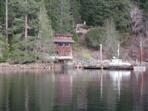At 99, Edith Iglauer, who wrote Fishing with John, still lives at this waterfront home in Garden Bay.