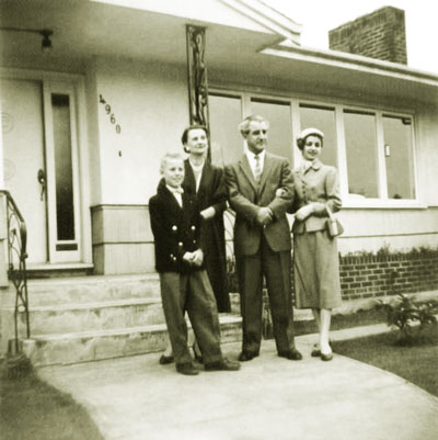 Vladimir Krajina and family at their home on Chancellor Blvd., UBC