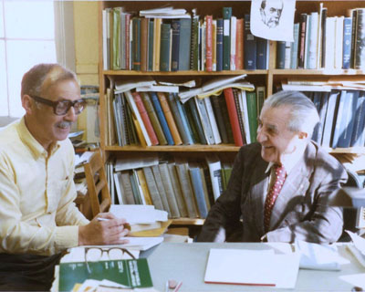 Vladimir Krajina with Jan Drabek (left).
