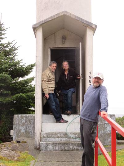 Alan Twigg, Caroline Woodward and her partner Jeff, 2015