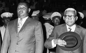 Denault Duvalier, Baby Doc (l)and his father Papa Doc