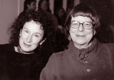 Jane Rule with Margaret Atwood, 2000.