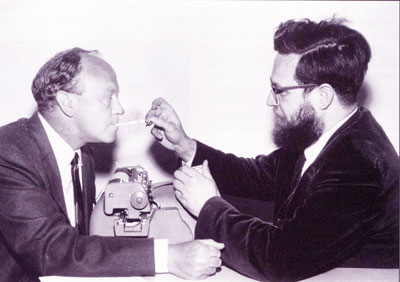Robin Skelton and and novelist John Peter, 1966.