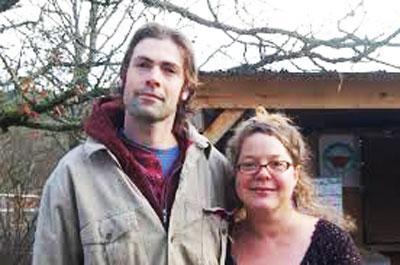 Nathalie Chambers and partner David.