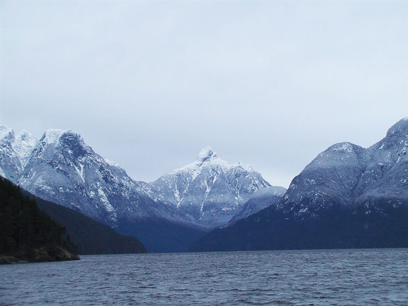 Mount Churchill from Jervis Inlet.