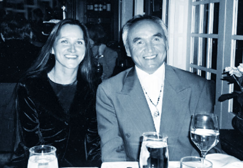 Randy Fred and Edith at the Gray Campbell Award dinner, Stanley Park, 2005.