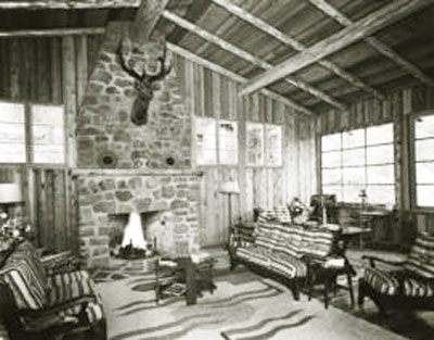Malibu Club vintage interior.