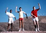 Douglas Coupland, Mac Parry Vista co-worker 1988 Palm Springs imitating Wind Turbines