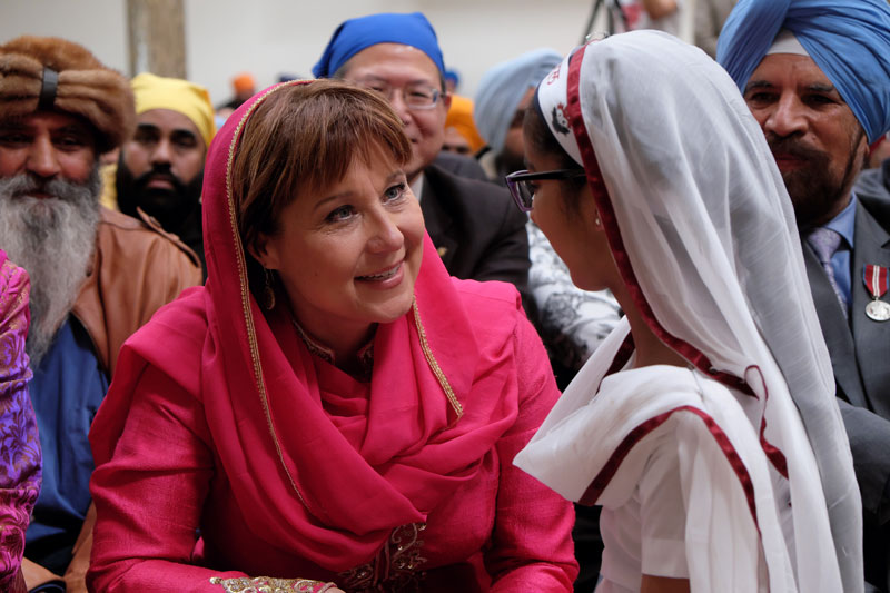 Christy Clark at the 2016 Vaisakhi Day festivities in Surrey.