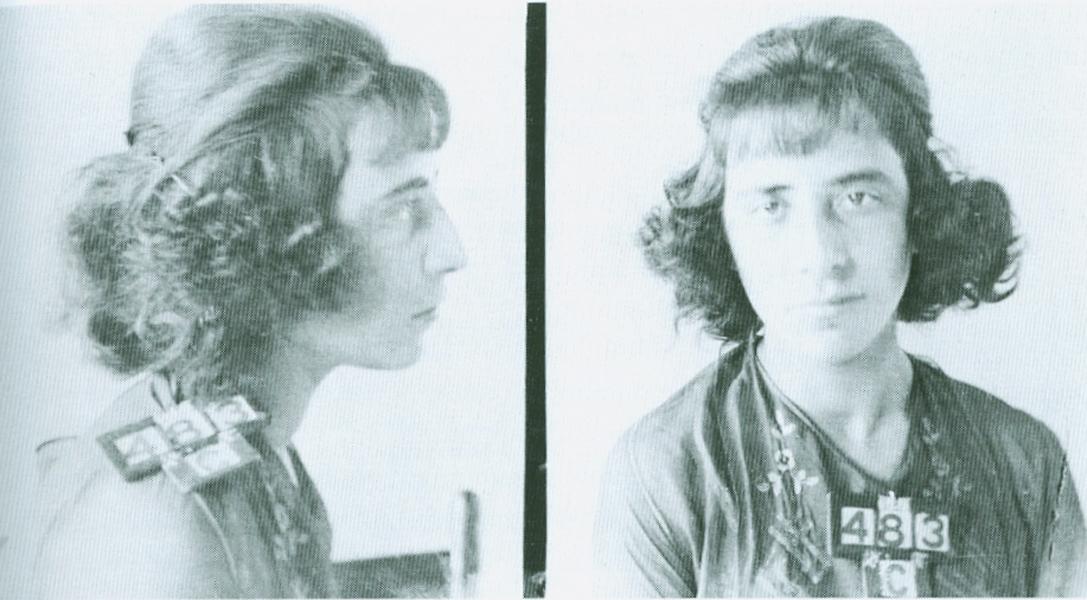 Lassandro, Florence mug shot, 1922