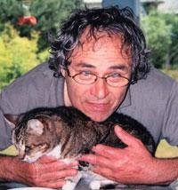 Rosenblatt, Joe with cat earlier days