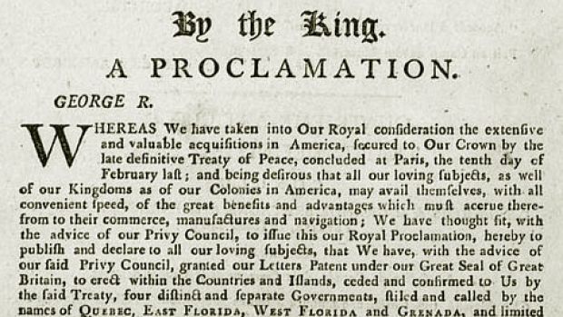 the royal proclamation essay The royal proclamation of 1763 holds an ambiguous place in debates over quebec's relationship with canada in sovereignist discourse, it is regularly evoked as a.